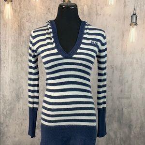 EUC BCBG Maxazria Angora & Wool Hooded Sweater
